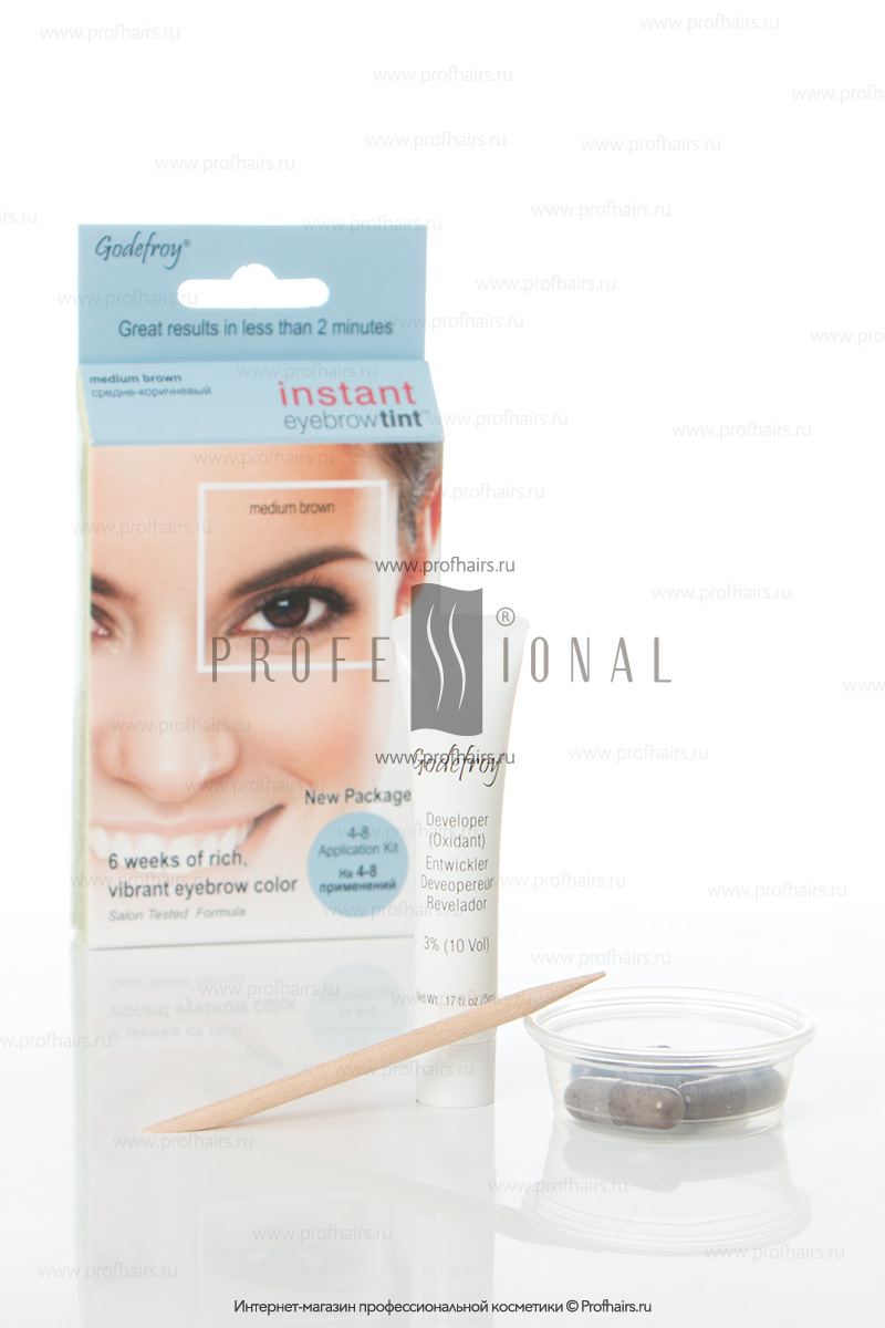 Godefroy Instant Eyebrowtint ������-��� � �������� ��� ����������� ������ Medium Brown 4 �������