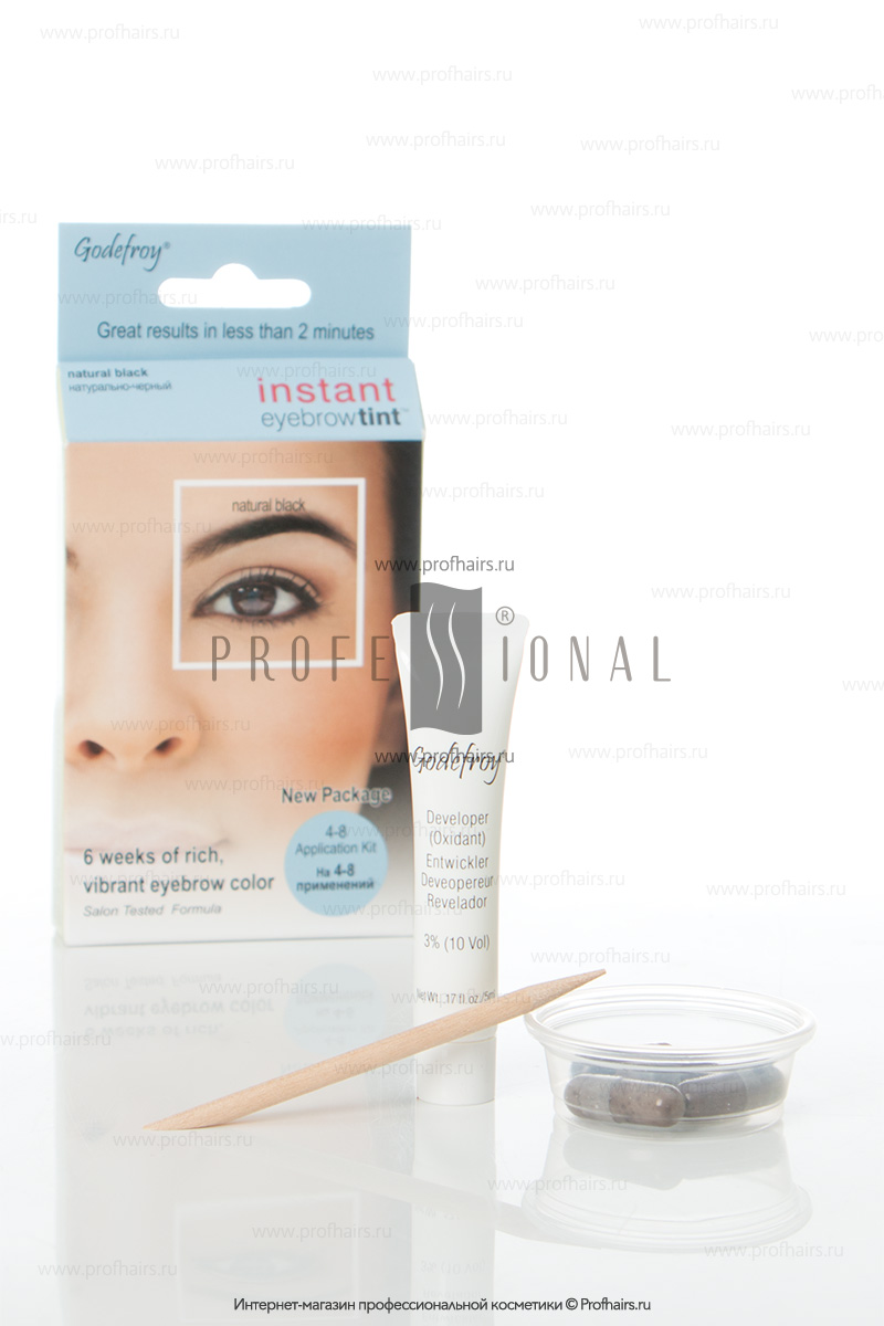 Godefroy Instant Eyebrowtint ������-��� � �������� ��� ����������� ������ Natural Black 4 �������