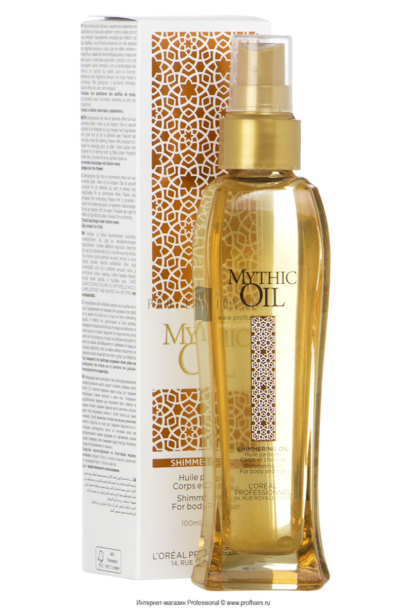 L'Oreal Mythic Oil Shimmerring Oil Мерцающее масло для волос и тела 100 мл.