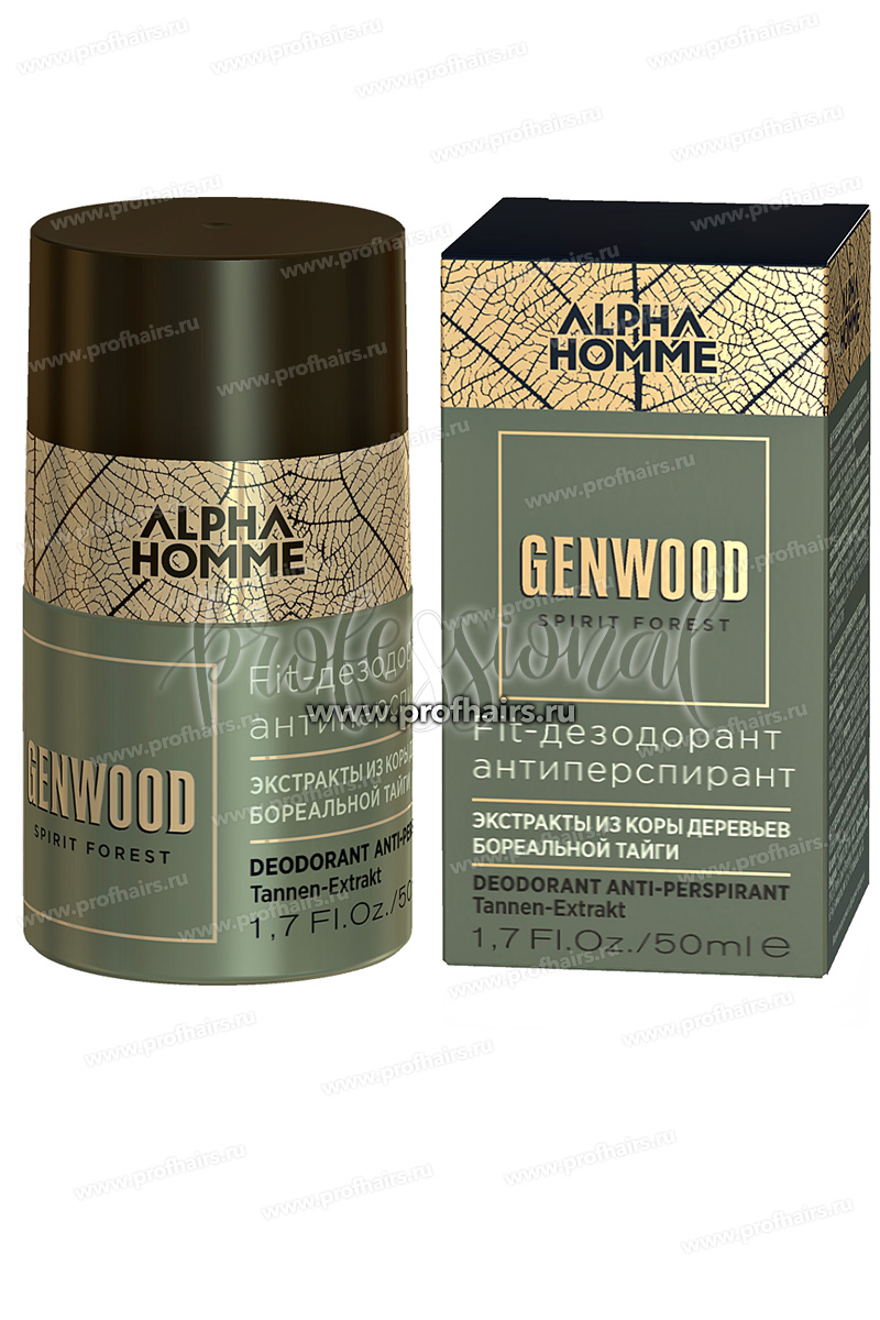 Estel Alpha Homme Genwood Fit-дезодорант антиперспирант 50 мл.